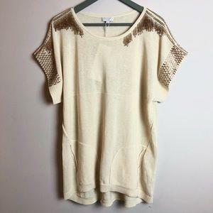 ESCADA   NWT Beaded Tassel Sweater w/ Pockets